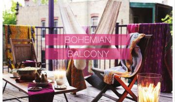 Balkonschermen met Bohemian prints